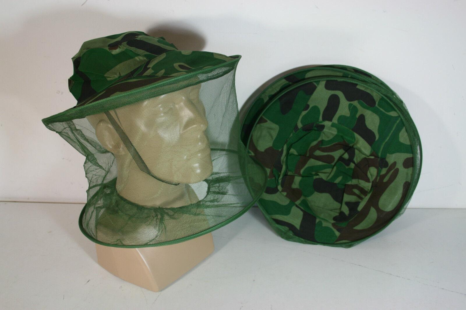 Lot de 5 chapeaux filet anti moustique     Mosquito head net hat 97c3ae