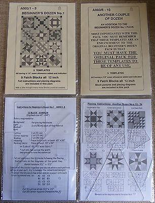 Plastic Patchwork Templates Beginner's Dozen PLUS 24