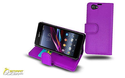 Wallet Flip Leather Stand Card Case Cover for Sony XPERIA Z1 Compact Mini + SG