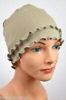 Chemo Cap, Hat, Cancer Hat, Beanie,fringe,beige, Khaki, Lightweight, Sleep,