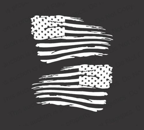 American Flag Distressed Military Vinyl Decal Sticker for Jeep Chevy Ford Toyota