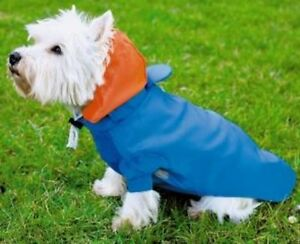 perros-chubasqueroro-Impermeable-Lluvia-Capucha-Chaqueta-abrigo-jersey-azul