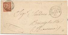 P5528   Chieti, ORSOGNA, annullo numerale a sbarre 1881