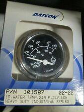 "Datcon H//D Ind.Series Gauge 101586 Water Temp 100-240°F   24V  52mm//2/"" Black"
