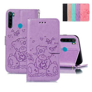For-Xiaomi-Redmi-Note-8-7-Pro-6A-Cute-Patterned-Leather-Flip-Wallet-Case-Cover