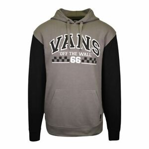 Vans Off The Wall Men's Grey Two Tone Checker Pullover Hoodie (S04)