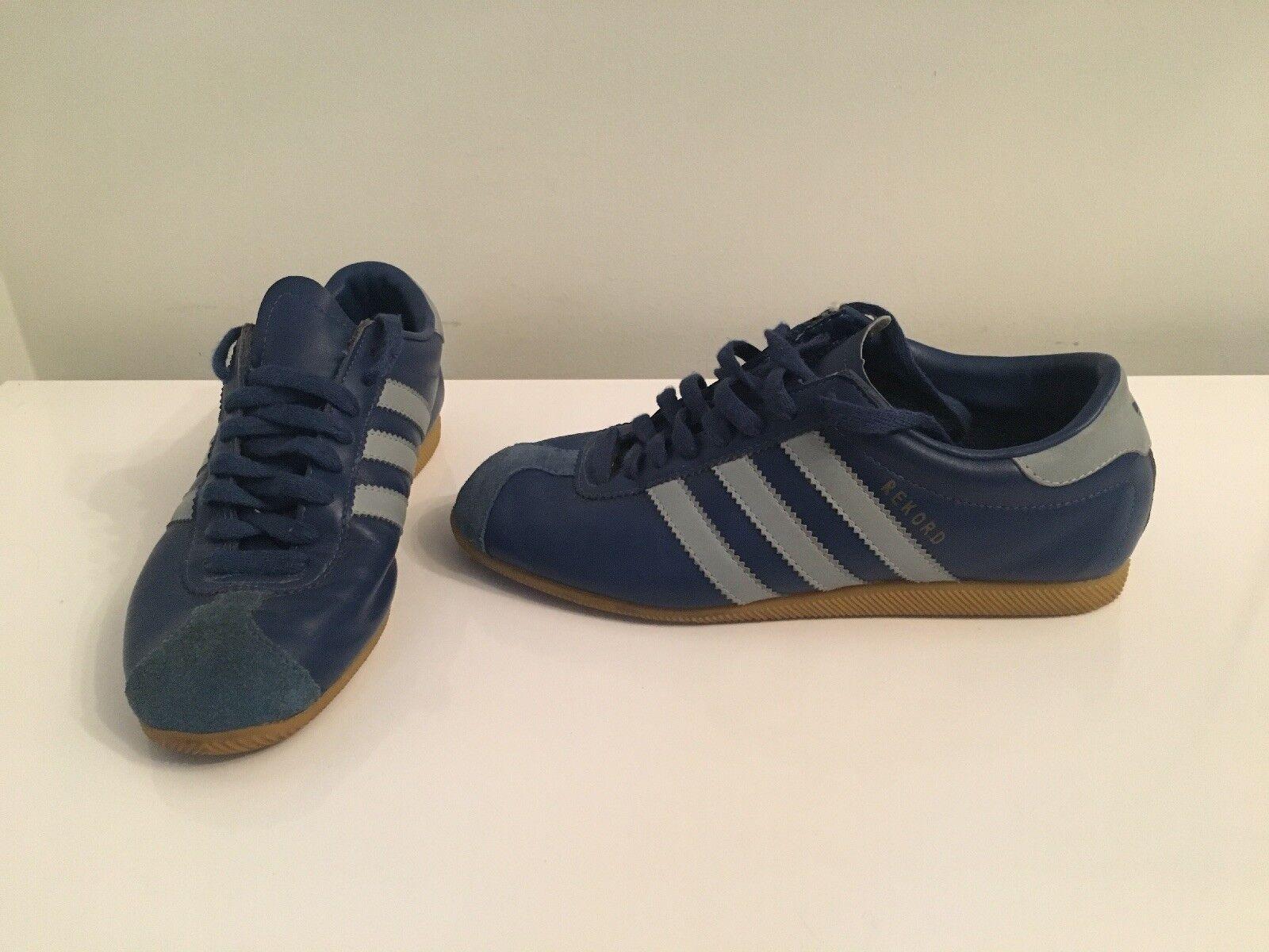 Genuine blu blu blu Unisex Adidas Scarpe Da Ginnastica REKORD calzature 2002 Retrò Taglia c8d3a8