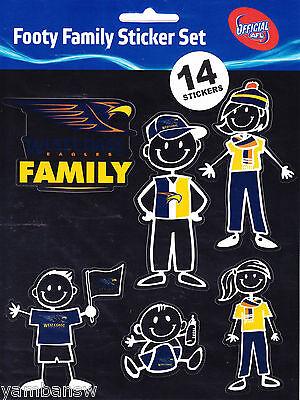 WEST COAST EAGLES * FOOTY FAMILY STICKER SET * AFL * NEW & SEALED