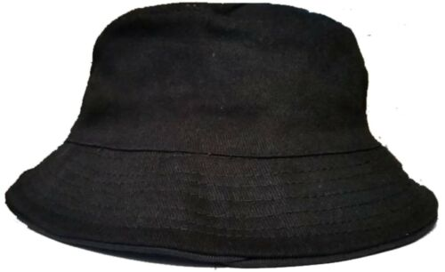 Anglerhut Fischerhut Sonnenhut Freizeithut schwarz blanko für hools fans urlaub