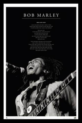REGGAE MUSIC POSTER Bob Marley Iron Lion Zion Black and White