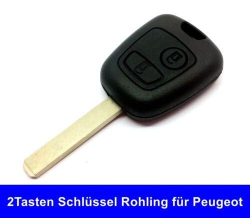 2Tasten Auto schlüssel Gehäuse Rohling für Peugeot 207 307 407 Reparatur