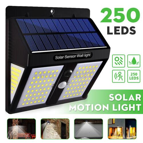 Details about  /250 LED PIR Motion Sensor Solar Power Garden Light Outdoor Yard Lamp Waterproof