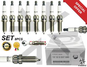 8PCS Platinum 12120037580 ZR5TPP33 OEM SPARK PLUG for 550i 650i 750Li 750i 760Li