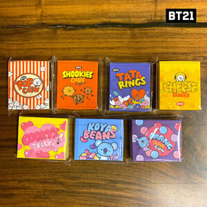 BTS-BT21-Official-Authentic-Goods-Sticky-Note-Snack-Ver-7SET-50x60mm-100Sheet