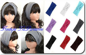 haarband xxl knoten turban bandana kopftuch stirnband chiffon m tze 4 in 1 ebay. Black Bedroom Furniture Sets. Home Design Ideas