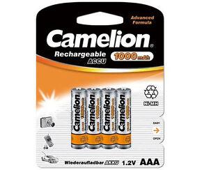 Heimwerker Klug 4 X Ni-mh Akku Camelion Aaa Micro 1000mah R3 Lr3 Wiederaufladbar Batterie Neu Eine GroßE Auswahl An Waren