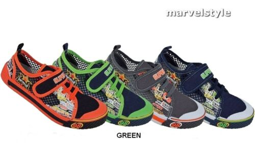 BOYS CANVAS SHOES TRAINERS SNEAKERS UK size 3.5-12.5 //EU 20-31 COMFY /& GROOVY