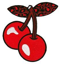 Sourpuss Leopard Cherry Duo Iron-on Patch - Retro Pin-up Rockabilly