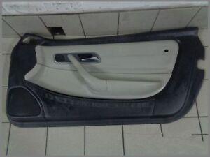 Mercedes-Benz-R170-SLK-Tuerverkleidung-RECHTS-Verkleidung-Leder-SCHWARZ-WEISS