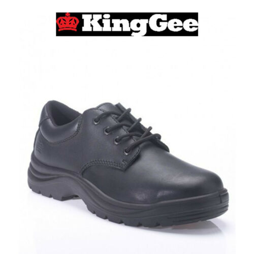 Mens KingGee Wentworth Steel Cap Safety Work Shoes Leather Strong Durable K26500