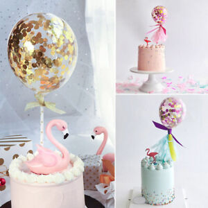 Balloon-Topper-Cake-Baby-Birthday-Decor-Party-Ornament-Prop-Wedding-Colorful-US