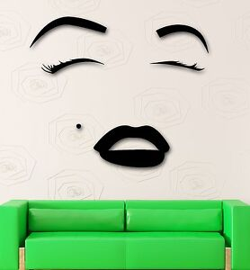 Wall sticker vinyl decal hot sexy girl eyes lips beauty for Stickers salon