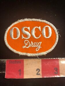 Vintage-OSCO-DRUG-Store-Embroidered-Twill-Advertising-Patch-Pharmacy-Rx-00SF