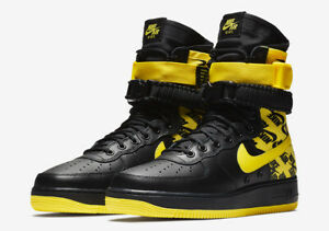 Details about Nike SF Air Force 1 High Winter Black Yellow Boot Size 11.5 AR1955 001 Steelers