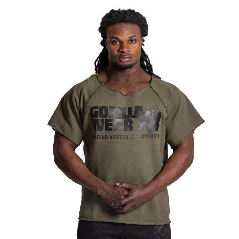 Gorilla Wear Classic Work Out Top Army Green Bodybuilding Fitness