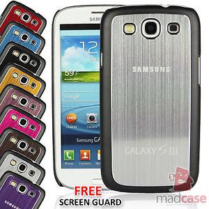 para-Samsung-Galaxy-S3-III-Estilizado-Metal-Cepillado-Aluminio-Funda