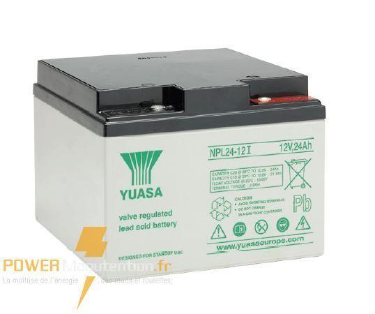 Batterie alarme yuasa NPL24-12 12V 24ah  166X175X126MM