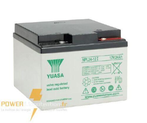 Batterie solaire yuasa NPL24-12 12V 24ah  166X175X126MM