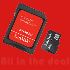 SanDisk 4GB MicroSD Micro SDHC TF Flash Class 4 Memory Card 4G with SD Adapter