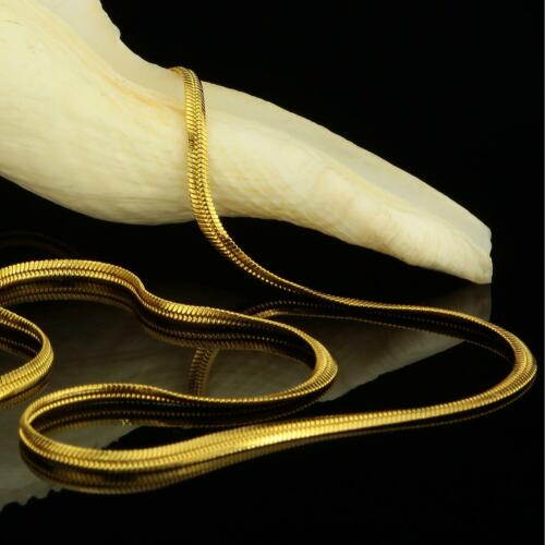 Schlangenkette 2 mm Echt 999er Gold 24 Karat vergoldet Damen Herren K2118S