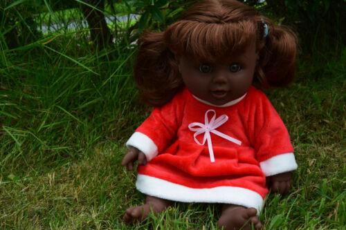 "12/"" Afro Noir Talking BABY GIRL DOLL Santa Helper poupée joyeux noël poupée"