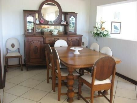 EXQUISITE LARGE ANTIQUE OAK DRESSER WITH MIRRORS R10,000 (TABLE AND CHAIRS NOT FOR SALE) - MANY OTHE