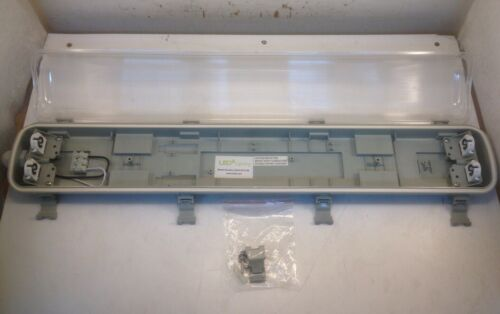 Lot of 6x LED 2FT Tube Vapor Proof Waterproof Lamp Fixture w/ 4000K Lamps