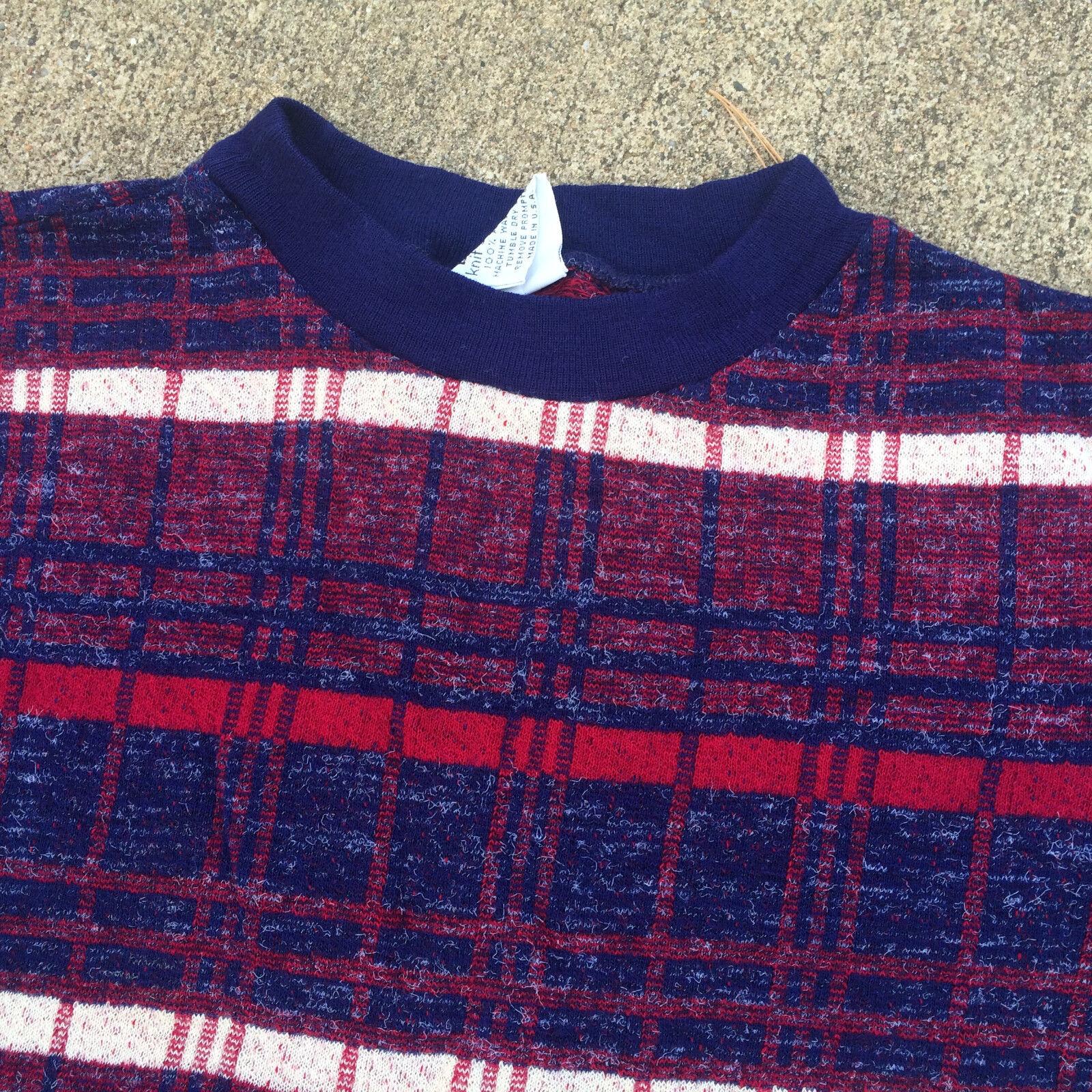 Rare Knit Vintage 1950's 60s Surf Stripe Blank T … - image 2