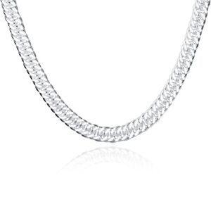 Men S Miami Cuban Link Chain 18k White Gold Plated Thin 3mm Thick Italy Made Ebay