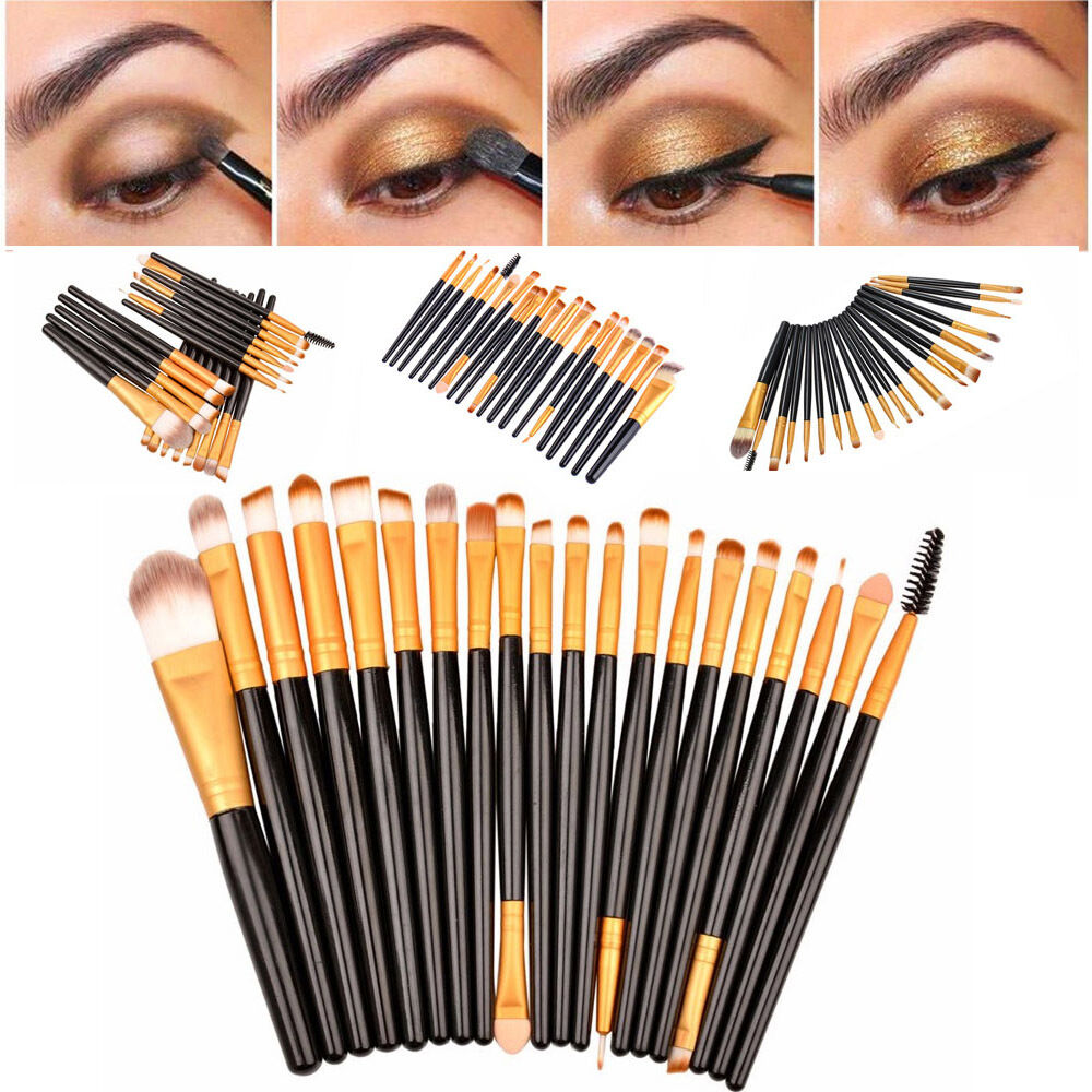 Pro Concealer Cream Palette 15 Colors 10Pcs Foundation Makeup Brush Black Kit US 1