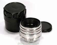 Early Helios-44 lens 2/58 mm 8 blades for old SLR Zenit M39 mount.№5021068. Exc