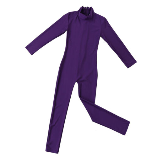 Girls Ballet Dance Leotards Gymnastics Jumpsuit Zentai Kids Unitard BodySuit