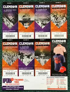 2019 Clemson Football Season Ticket Sheet Unused In Excellent Condition Ebay