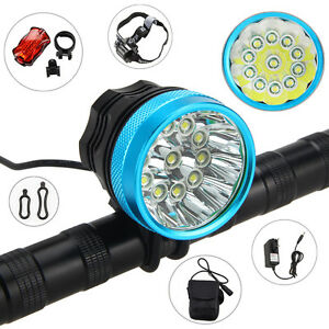 1SET-Rechargeable-50000LM-11X-XML-T6-LED-Bicycle-Bike-HeadLight-Head-Tail-Light