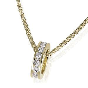 Goldmaid Kette Taufring 375 Gelbgold 14 Zirkonia weiß Zopfkette 42cm Echtschmuck