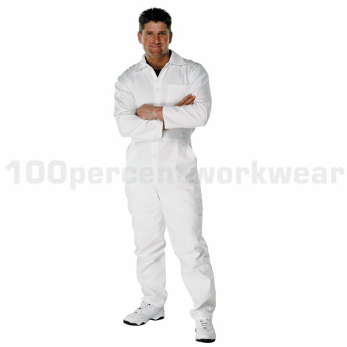 "Size 38/"" REG Leg PC182 WHITE Painters Decorators 100/% Cotton Work Overalls New"