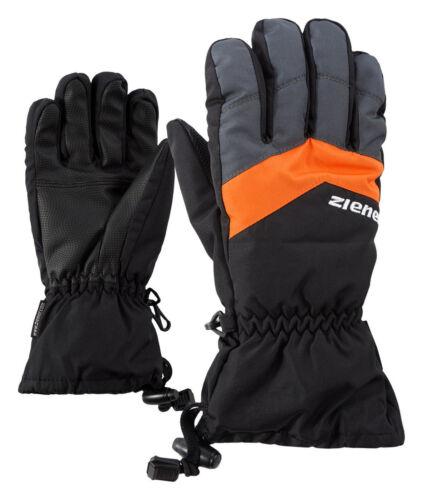 Ziener Kinder Skihandschuhe Fingerhandschuhe LETT AS® glove schwarz grau orange