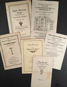 Poughkeepsie-NY-Six-c-1921-1933-Playbills-and-Concert-Programs-Around-the-City