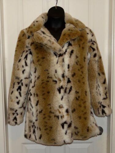 Womens Blanc Noir Outerwear faux fake fur leopard