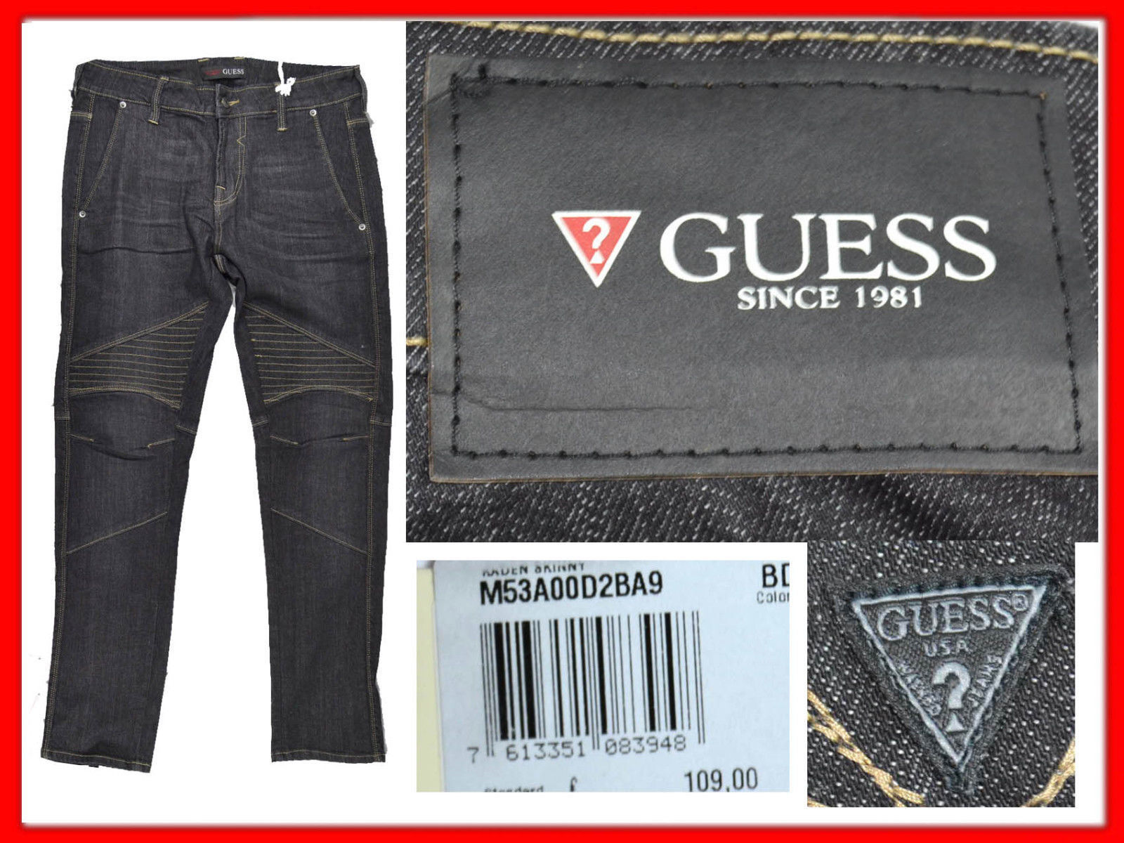 GUESS Jeans For Man 31 US    48   UNTIL - 80 % GS05 TOD2